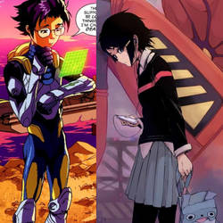 Marvel Comics Hiro Takachiho and Peni Parker by StrayDreamer