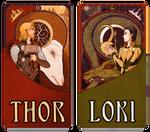 Mucha Thor and Loki