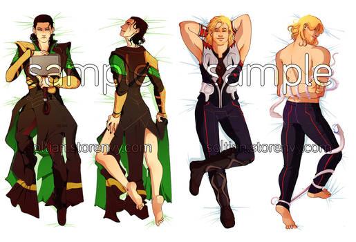 Thor and Loki Dakimakura