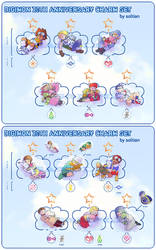 Digimon Cloud Charm Set