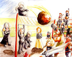 Advent Children Volleyball by soltian