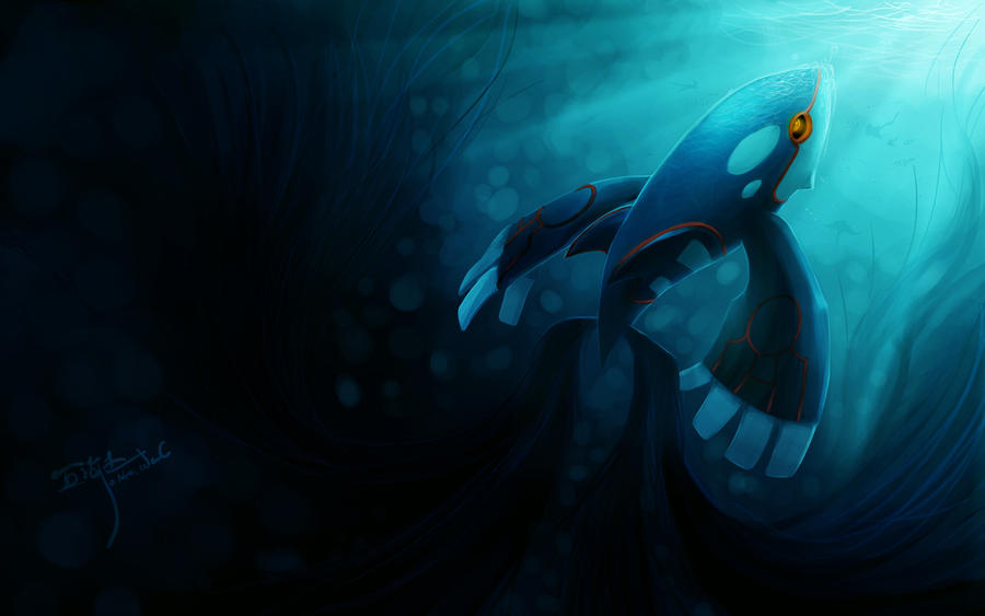 Pokemon Kyogre Underwater Wallpaper
