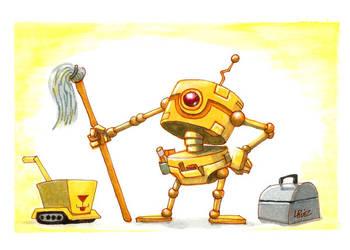 Janitor-bot-001 by LazaroRuiz
