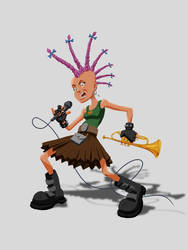Punk girl by LazaroRuiz