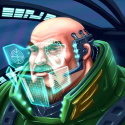 Warthog the Cyberpunk Pilot by LazaroRuiz