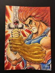 Thunder Cats sketch card by LazaroRuiz