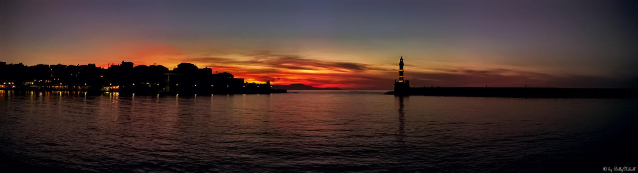 Sunset on Port Chania
