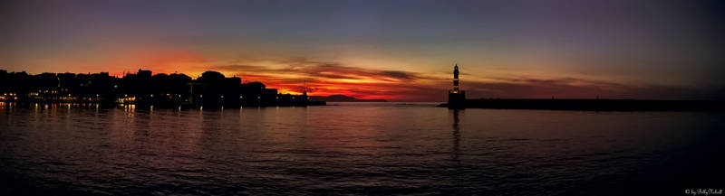 Sunset on Chania old Port