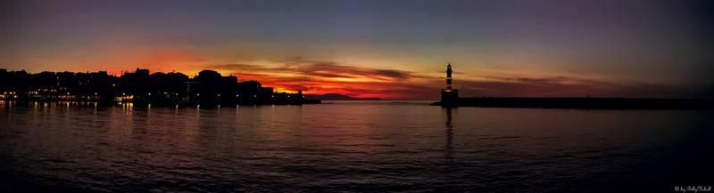 Sunset on Port Chania