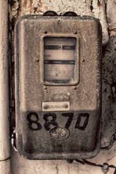 Old Electromechanical Energy Meter
