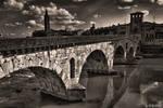 Old Bridge In Verona Over Adige River II