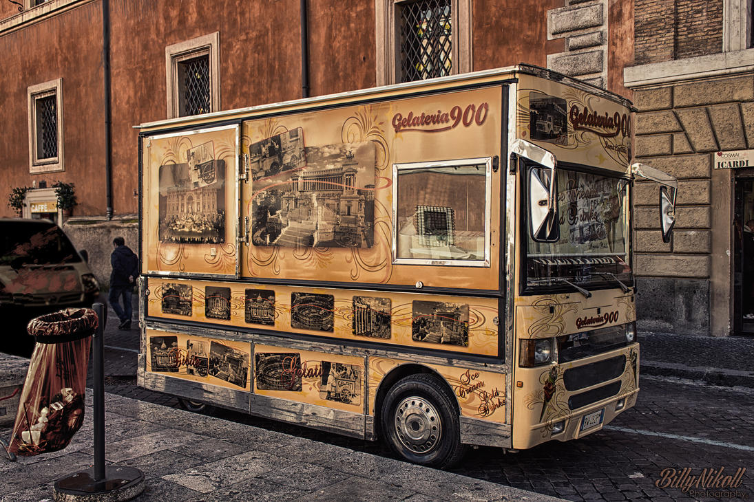 Vintage ice cream car HDR by BillyNikoll