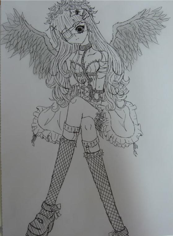Anime Angel Girl By Tofu Tan