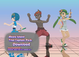 [MMD] Pokemon Akala Island Trial Captain Pack by AetherFoundationLabs