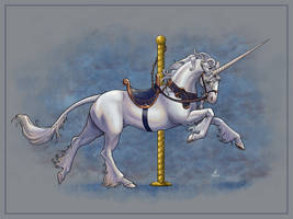 Carousel Unicorn by JillJohansen