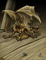 Tavern Dragon in colour... by JillJohansen