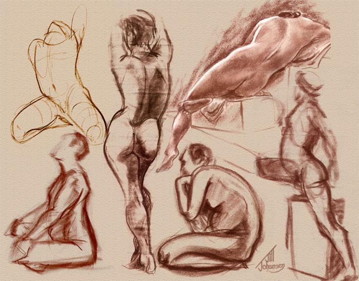 Figure Drawing Collage by JillJohansen