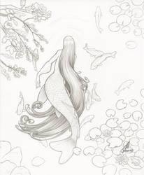 Koi Mermaid Pencils