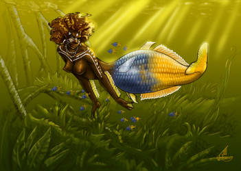Bosemani Mermaid by JillJohansen