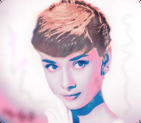Audrey Hepburn colored