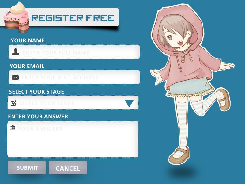 Design form Register for kids by samehAmmar on DeviantArt