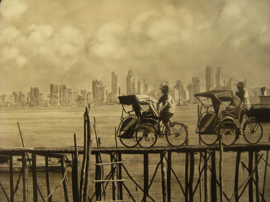 Becak Belakang Padang by MaraniArt