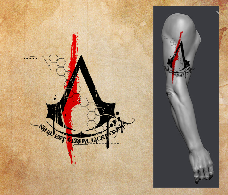 28 assassins creed tattoo designs amazing assassin s creed tattoos page 3 tattoo artist. Black Bedroom Furniture Sets. Home Design Ideas