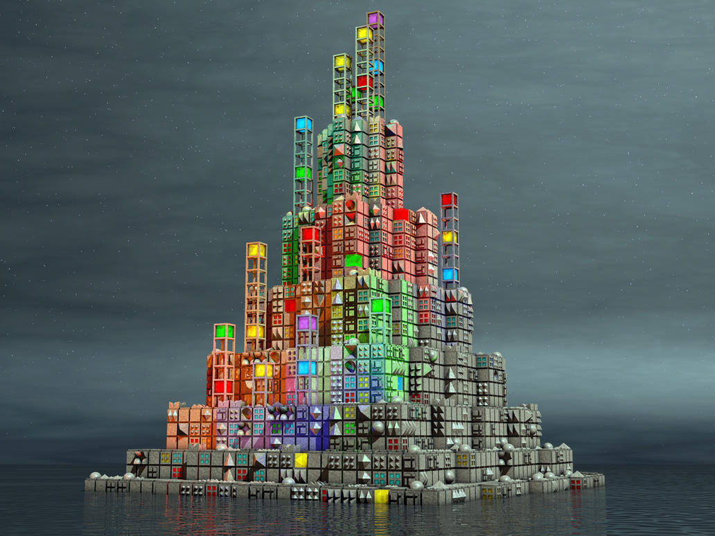 Cube Island by Jollard