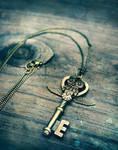 Owl Key Charm Necklace v.2