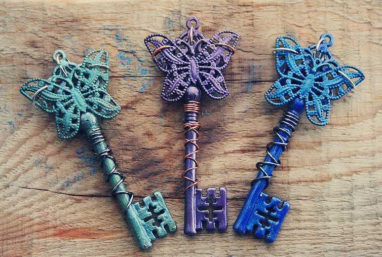 Jewel Butterfly Keys by MythicalFolk