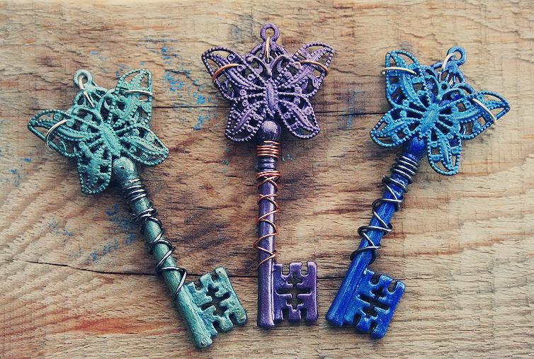 Jewel Butterfly Keys by MythicalFolk