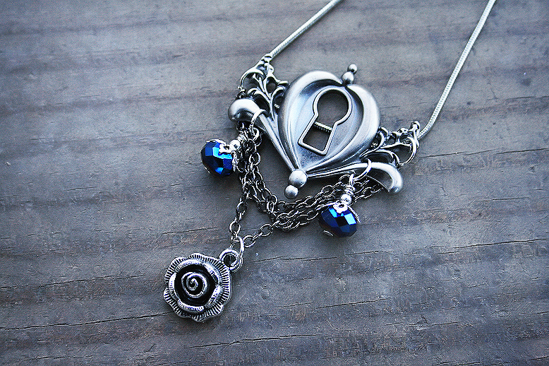 Keyhole Charm Necklace by MythicalFolk