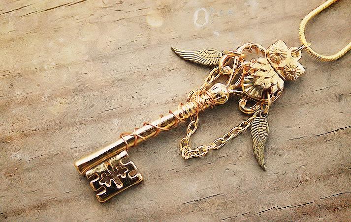 Golden Royal Owl Key by MythicalFolk