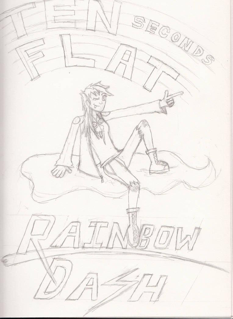Human dashie loafs on a cloud pencil sketch by doomwithfries on