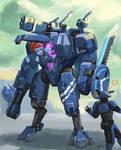40K: tau crisis battle suit