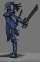 eldar scorpion by thevampiredio