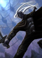 the drow drizzt do'urden by thevampiredio