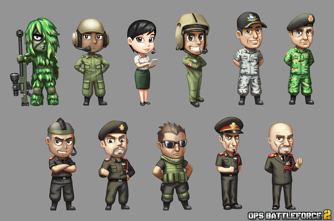 ops battleforce2 characters by thevampiredio