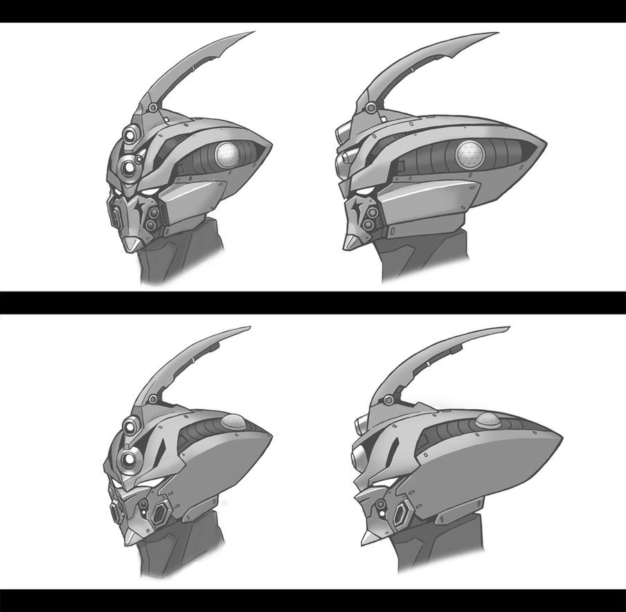 Guyver style helmets by thevampiredio