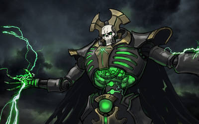 Necron overlord by thevampiredio