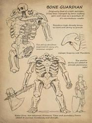 Necromancer's Journal: Bone Guardian by thevampiredio
