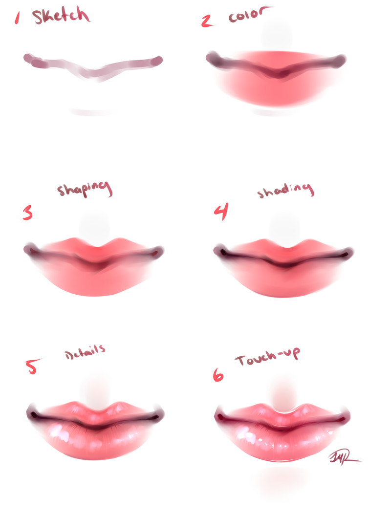 TUTORIAL - Lips by maryfraser