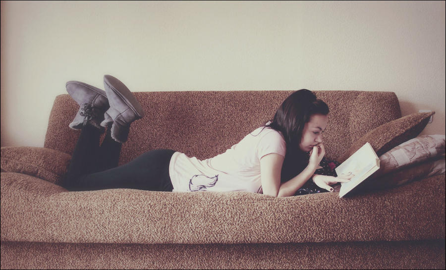 home_reading by marymarycherry