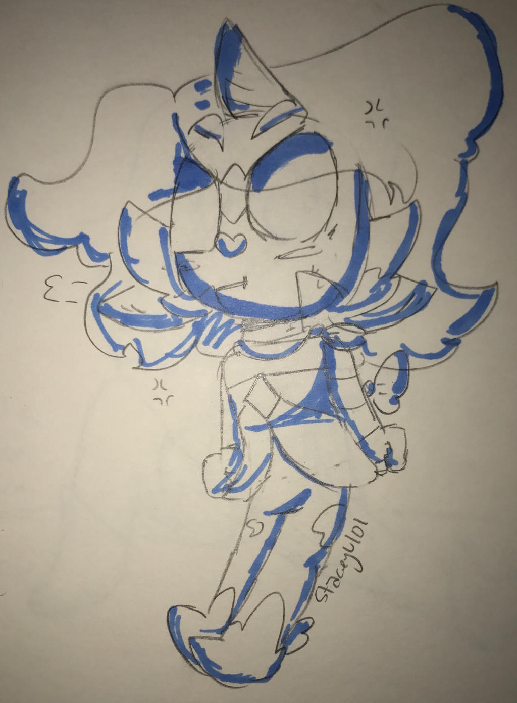 .:An Angry little Oni~:. by SleepyStaceyArt