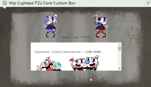 - F2U CUPHEAD CODE BOX - by SleepyStaceyArt