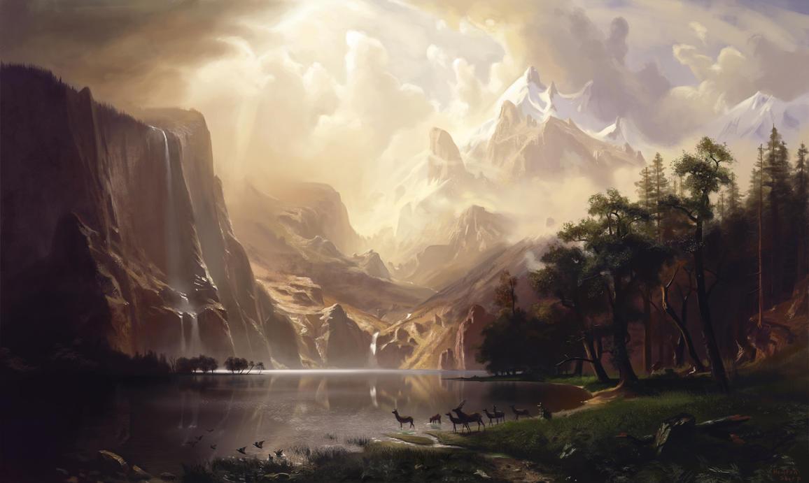 Bierstadt Study by HoustonSharp