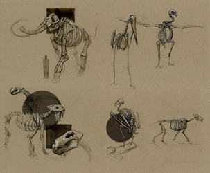 Page Museum - Ink Sketches by HoustonSharp