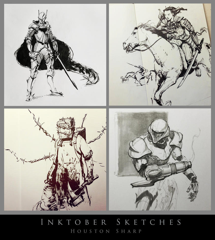 Inktober Sketches by HoustonSharp