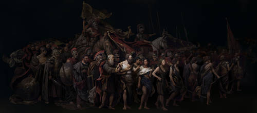 Wonder Woman - Amazons Walk with Mankind in Peace by HoustonSharp