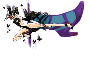 Bayonetta kick by MondoArt